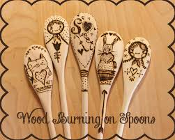 wood burning wood burning on spoons wood burning spoon and woods