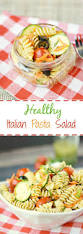 healthy italian pasta salad cooking with curls