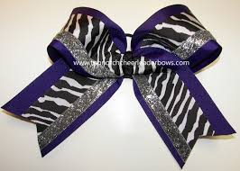 softball bows bulk purple zebra cheer bow purple big cheer bow sparkly purple