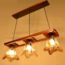 Country Style Pendant Lights Country Style Brown Wooden And Glass Large Pendant Lights