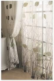 Pow Shower Curtain by Amazon Com Elleweideco Modern Green Leaf Tree Branch Window