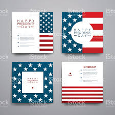 set of modern design banner template in presidents day style stock