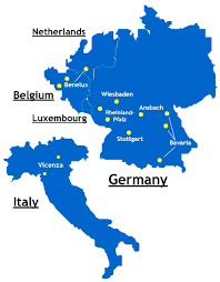 netherlands location in europe map garrisons u s army europe