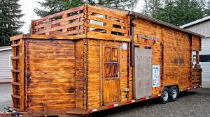 stunning tiny cabin on wheels by realwood tiny homes youtube