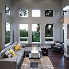 Low Height Sofa Good Looking 2 Story Height Family Room Contemporary With Gray