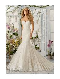 lace mermaid wedding dress mori 2820 strapless lace mermaid wedding dress ivory