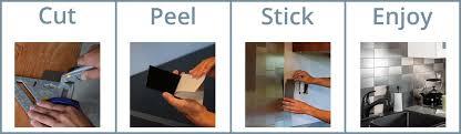 Aspect Peel And Stick Backsplash by Aspect Metal Backsplash Tiles Aspect
