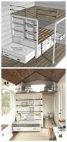 Plans For Loft Beds With Storage by Ana White Tiny House Loft With Bedroom Guest Bed Storage And