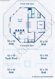 barn plans 4 stall horse barn living quarters design floor plan