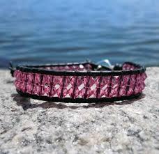rhinestone leather wrap bracelet images Swarovski crystal leather wrap bracelets rose onsra designer jpg