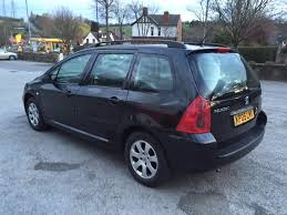 peugeot 307 1 6 petrol estate sw black 2005 05 reg manual 98k 2