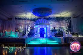 Decorations For Sweet 16 Vip Quince In Miami Florida Winter Wonderland Theme Stage Power