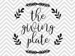 the giving plate thanksgiving svg and dxf cut file png