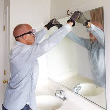 remove bathroom mirror clips metal removing a and framing bathroom