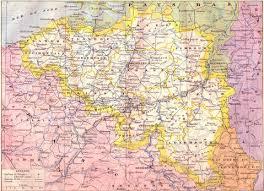 physical map of belgium belgium physical and political map of belgium 1910