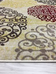 Modern Floral Rugs Rugshop Contemporary Modern Floral Indoor Soft Area Rug 53 X 73
