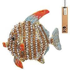 metal fish ring holder images Hyaline dora tropical fish trinket box hinged small jpg