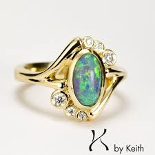 turquoise opal engagement rings 18k yellow gold opal ring jewelry design with keith chapman