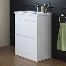 designer bathroom gloss white storage cabinet u0026 ceramic basin