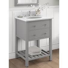 alaterre harrison carrera marble sink top with grey 24 inch bath