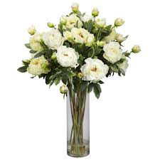 fake floral arrangements for your table centerpiece white peony