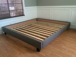 Bed Frame No Headboard Platform Bed No Headboard On Bedroom Ideas Categories