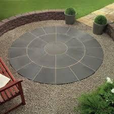 Circular Paver Patio Circular Patio Designs Circular Brick Patio With Wall And