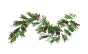 white pine cone 6 u0027 long needle pine red berry and pine cone artificial christmas