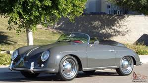 porsche 356 vintage speedster brand new slate grey red interior