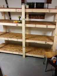 build easy free standing shelving unit for basement or garage 7