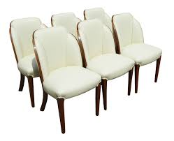 art deco burr walnut dining table u0026 6 chairs by h u0026l epstein fgb