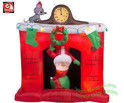 animated santa gemmy airblown 6 animated santa s popping