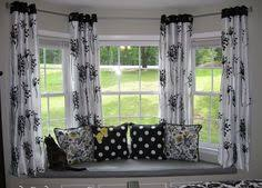 How To Hang Curtains On A Bay Window Best 3d Scenery Blackout Curtains Bay Window Treatments