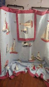 Pottery Barn Kids Quilts Pottery Barn Kids Quilt Junior Sailboats Nautical Full Double 87