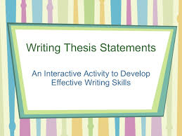 write a good thesis statement thesis identifying activity