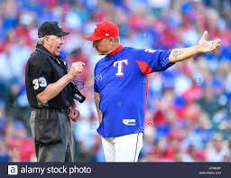 Jeff Banister Apr 03 2017 Texas Rangers Manager Jeff Banister 28 Argues A