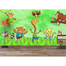 buy crazy funny jungle animals party cartoon kids room wallpaper