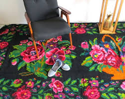 Flower Area Rugs by Large Area Rug Etsy