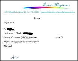 freelance writing invoice template how to invoice for freelance work u2013 dimora me