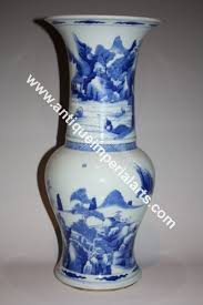 Chinese Blue And White Vase Antique Imperial Arts Antique Chinese Blue And White Vase