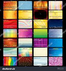 Business Card Credit Various Business Card Credit Card Blank Stock Vector 93298483