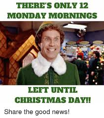 Christmas Day Meme - there s only 12 monday mornings left until christmas day share