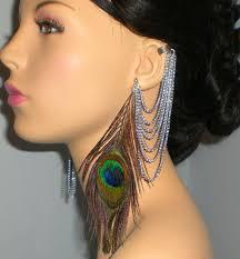 cuff earrings with chain 79 best ear cuffs feather earrings feather ear cuffs spiked