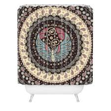 Deny Shower Curtains Belle13 Butterfly Mandala Shower Curtain From Deny Designs Home