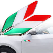 Italy Flag Images 2pcs 3d Itllian Italy Flag Sticker Badge Emblems Decal Decor For