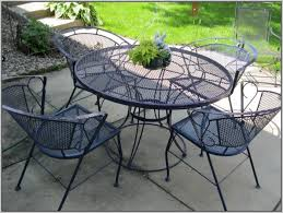 Black Rod Iron Patio Furniture Black Wrought Iron Mesh Patio Furniture Patios Home Design