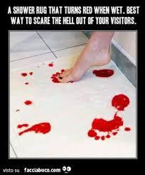 foto bagnate tappetino trasforma in rosso le parti bagnate utilissimo per