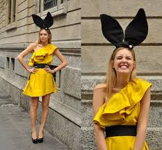 lanvin h u0026m yellow ruffle dress vsays shop