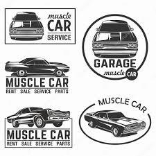 car logo black and white muscle car logo emblem big set vector u2014 stock vector galimovma79