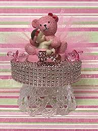 teddy centerpieces for baby shower baby shower girl with teddy cake topper